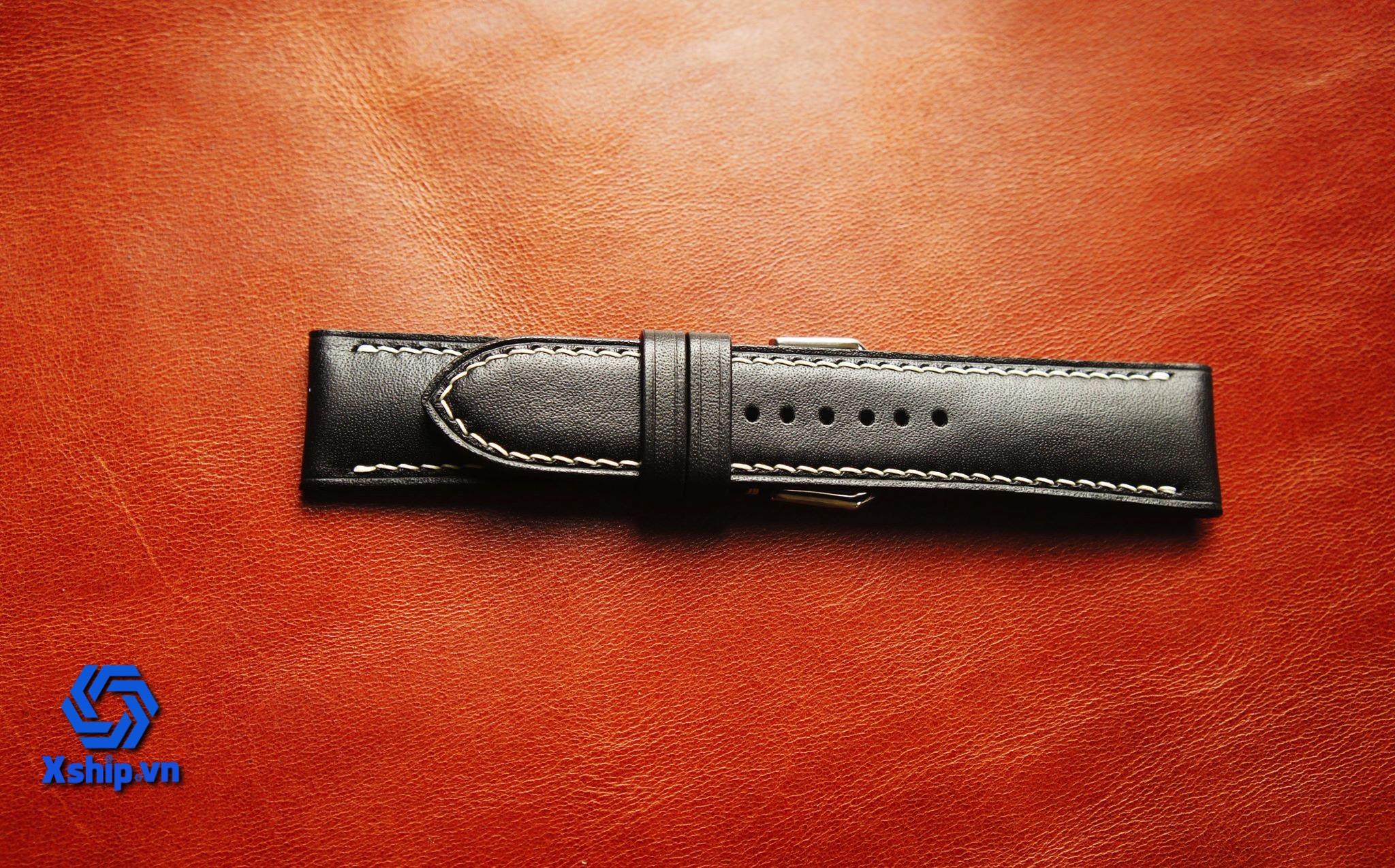 Dây da đồng hồ da bò Xship.L.B.001