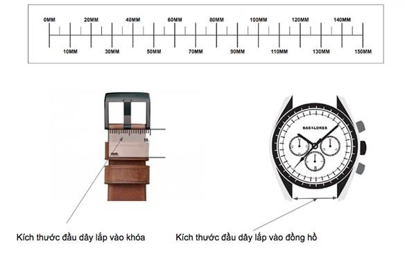 Hướng dẫn đo size dây da đồng hồ