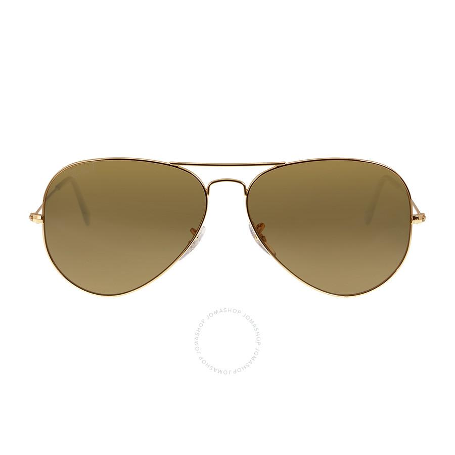 Ray Ban Aviator Sunglasses RB3025 001/57 62-14