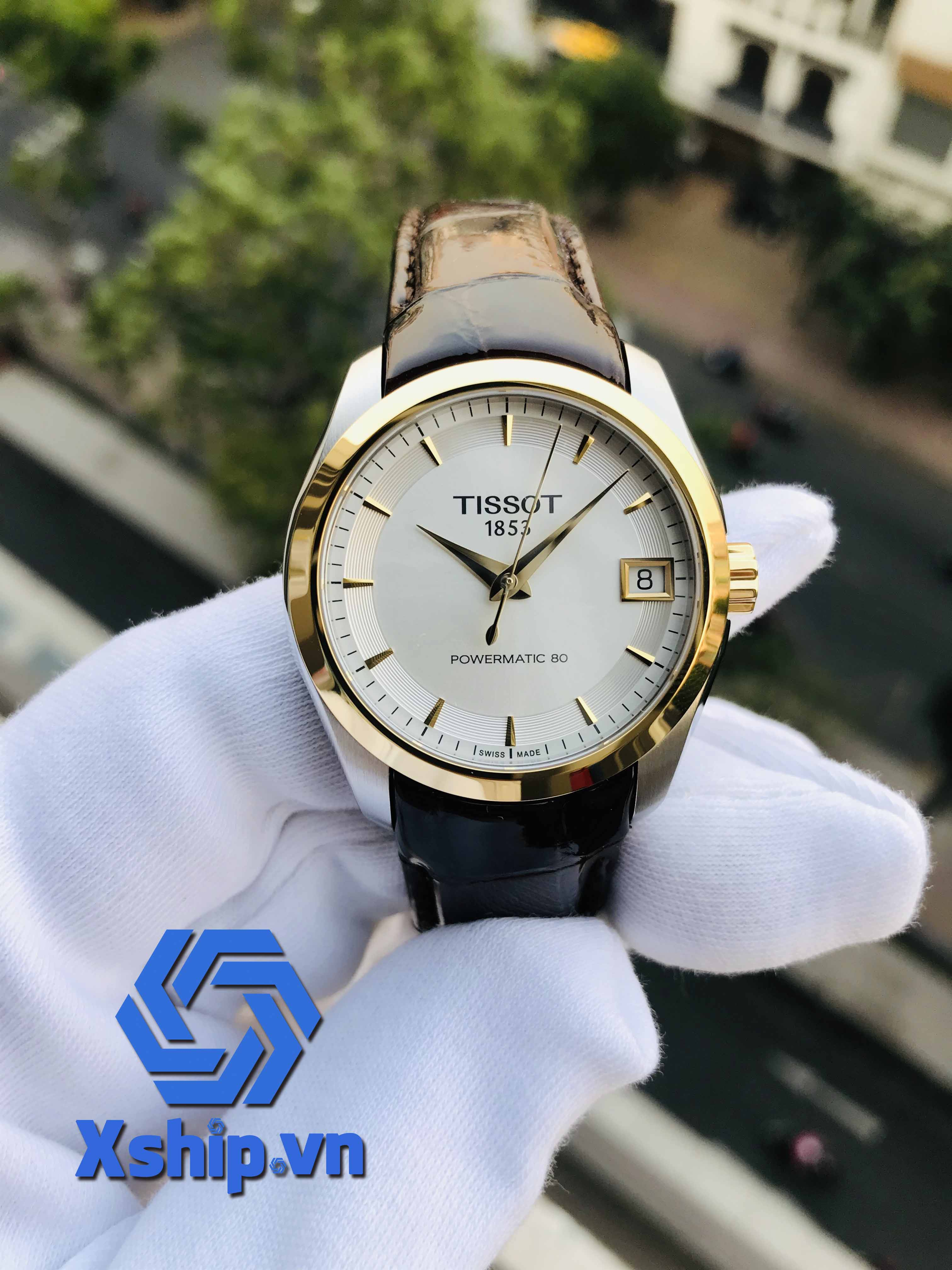 Tissot Couturier Silver Dial Ladies Leather T035.207.26.031.00 (T0352072603100)