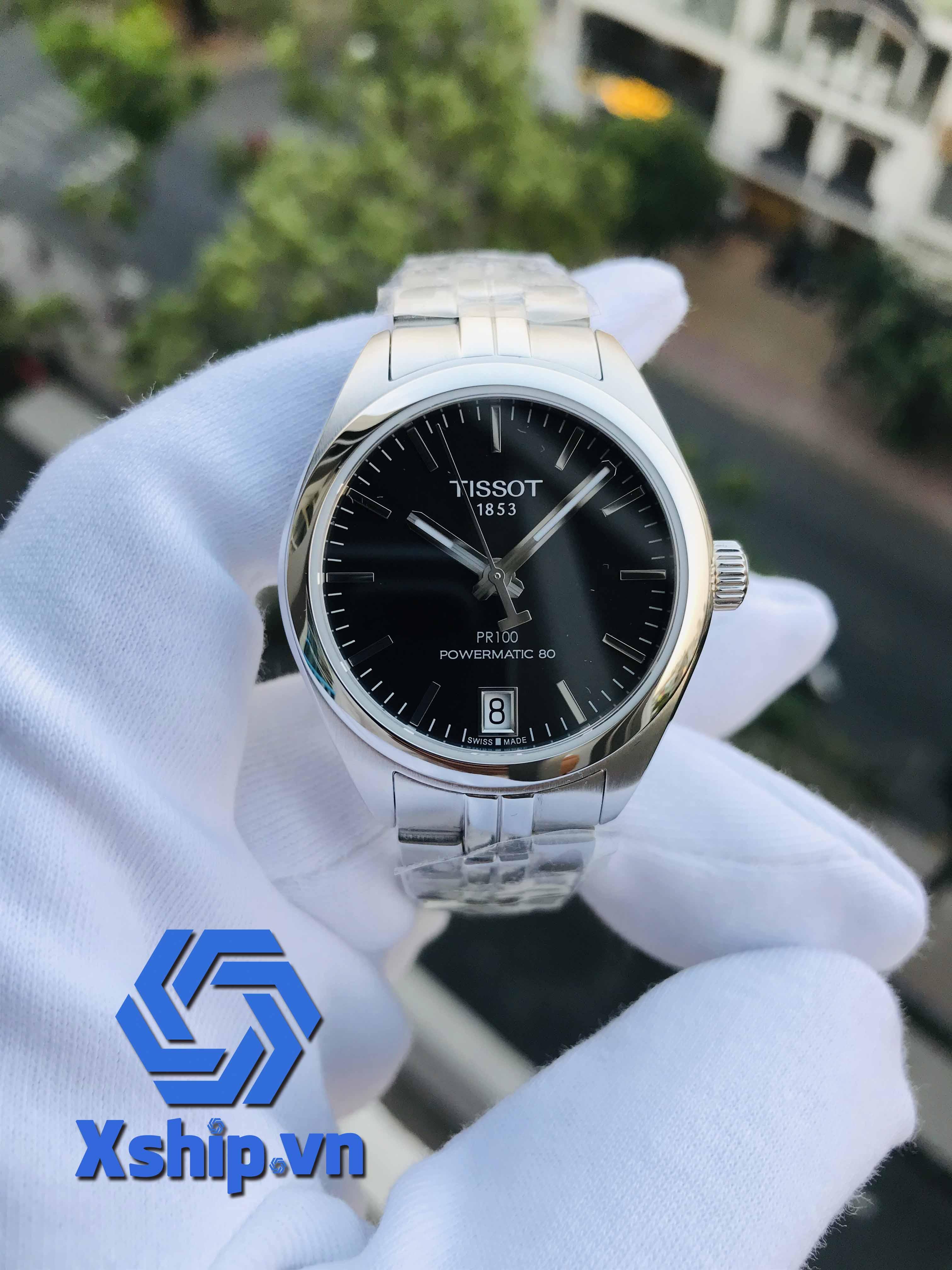 Tissot PR 100 Automatic Black Dial Ladies T101.207.11.051.00 (T1012071105100)