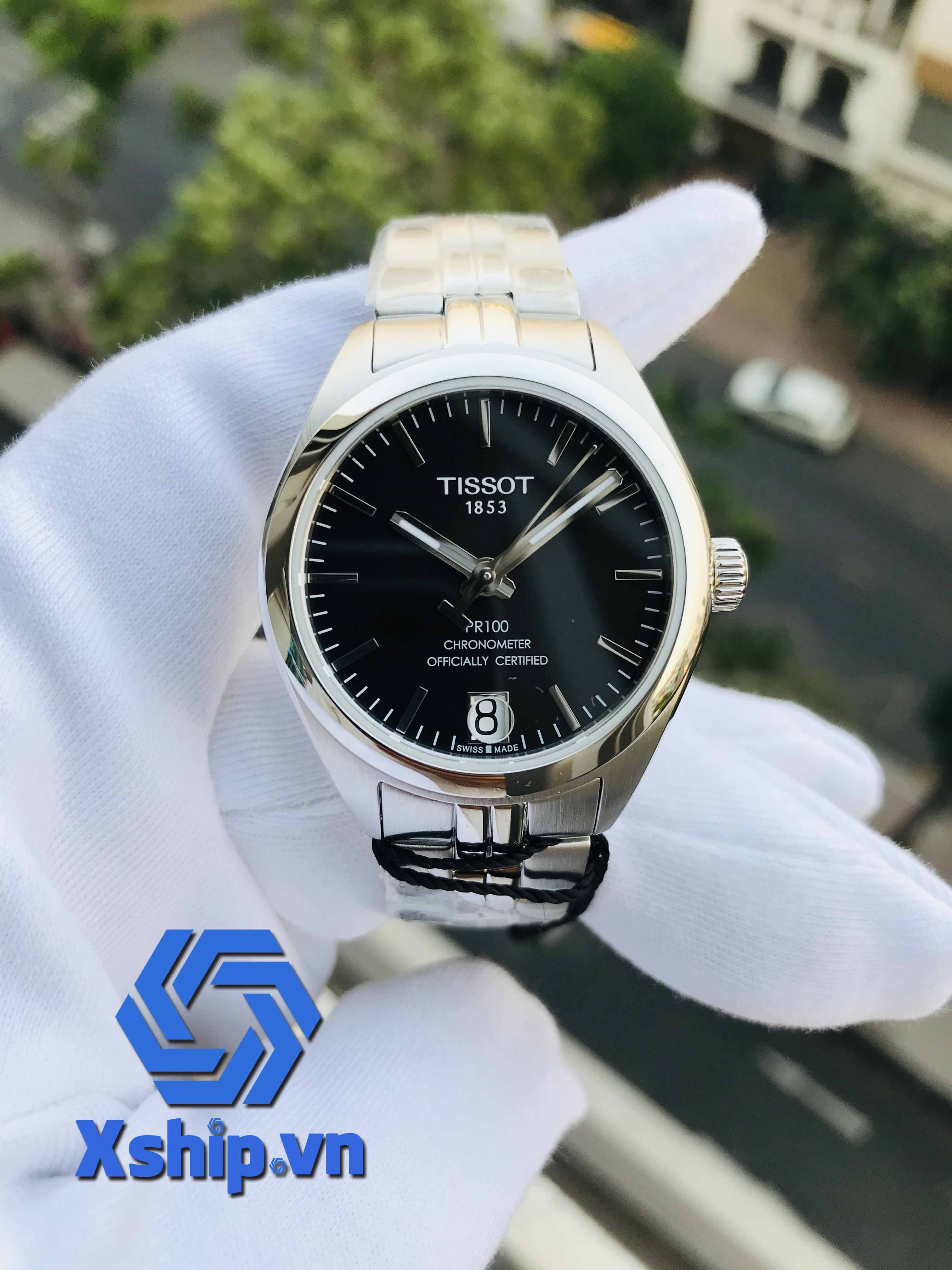 Tissot PR 100 Automatic Black Dial Ladies T101.208.11.051.00 (T1012081105100)