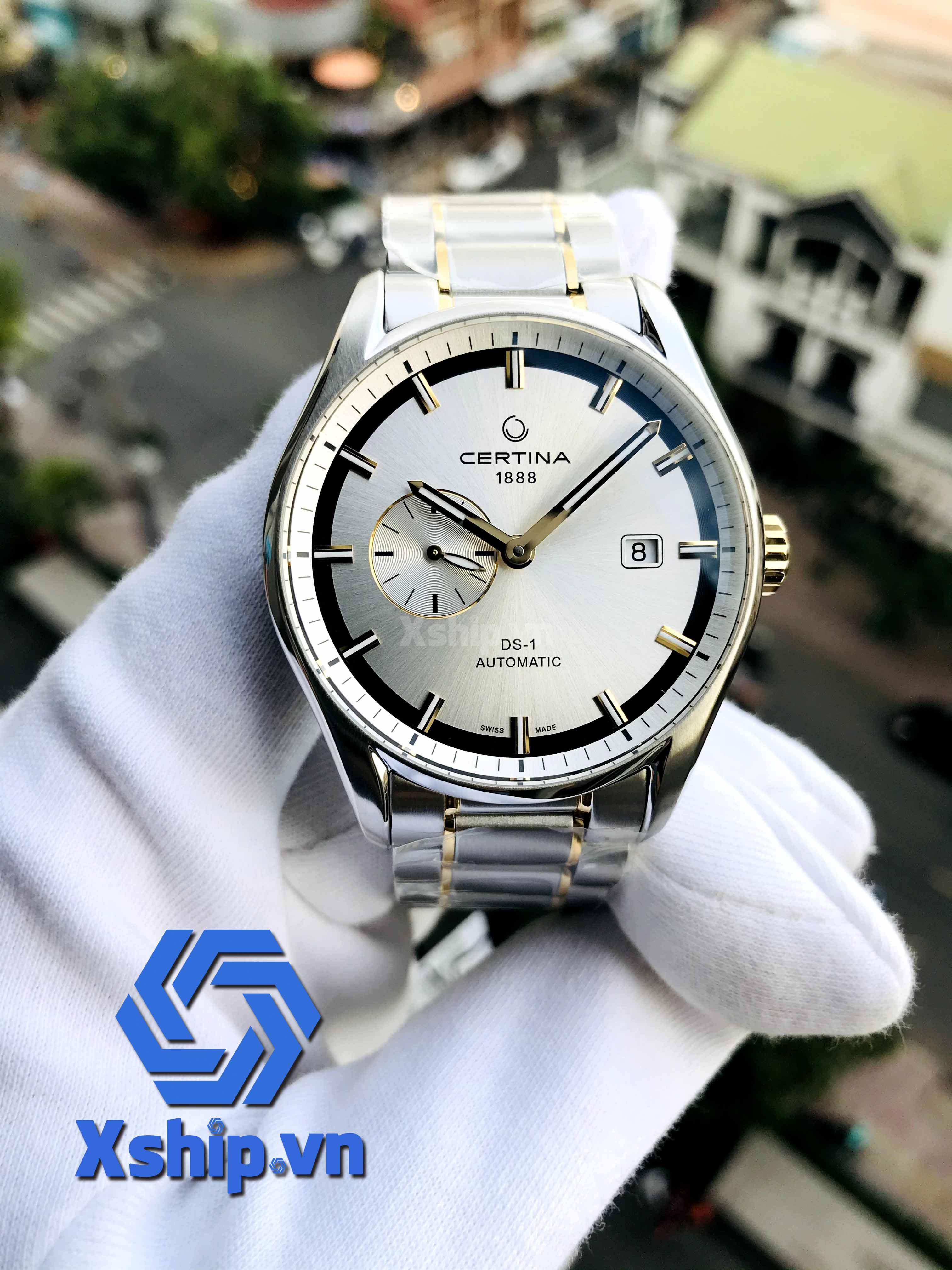 Certina DS 1 - Small Second Stainless Steel Two-Tone Mens Automatic C006.428.22.031.00 (C0064282203100)