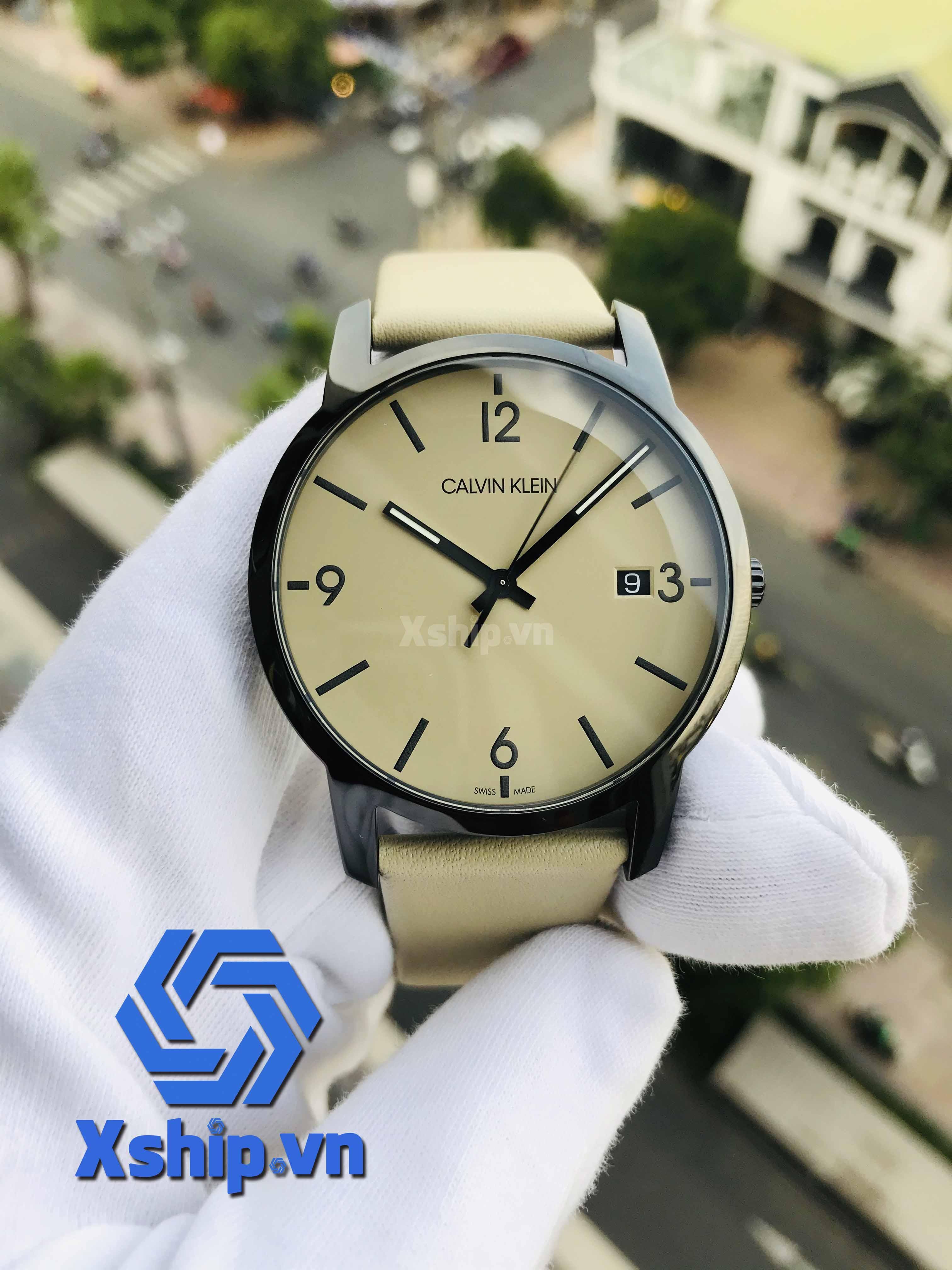 Calvin Klein City Quartz Beige Dial Men Watch K2G2G4GK