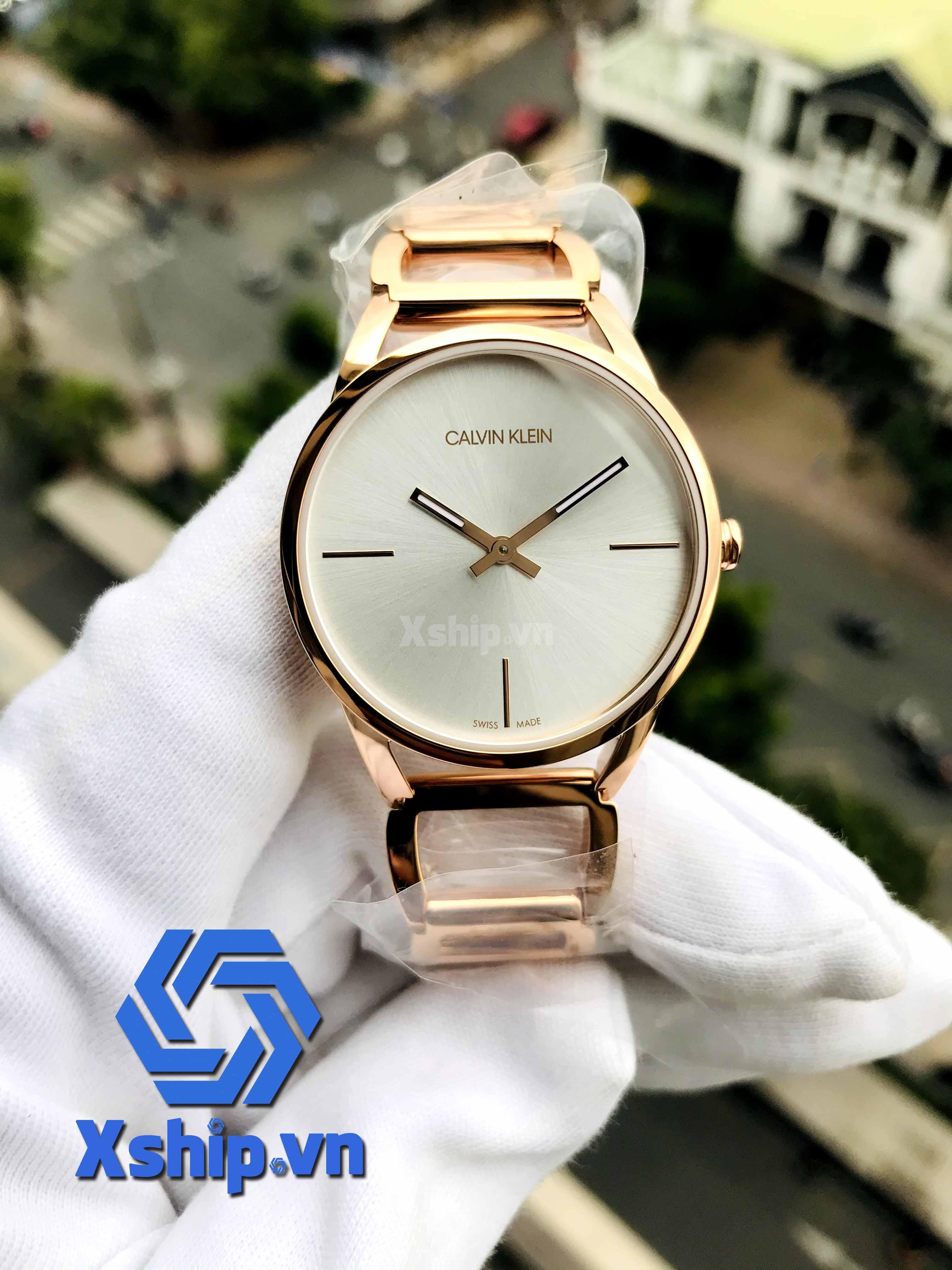 Calvin Klein Stately Quartz Silver Dial Ladies Watch K3G23626