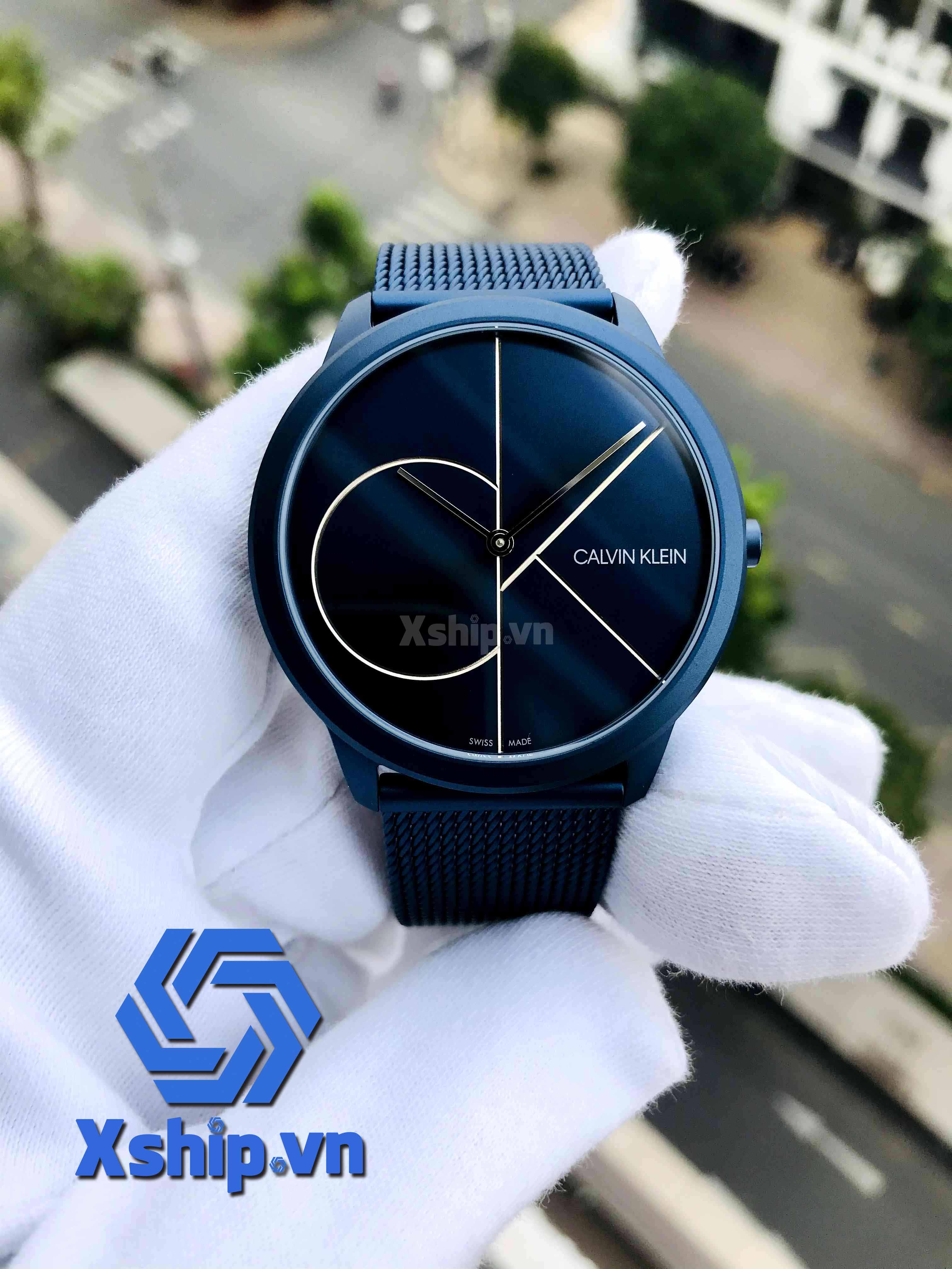 Calvin Klein Minimal Quartz Blue Dial Men Watch K3M51T5N