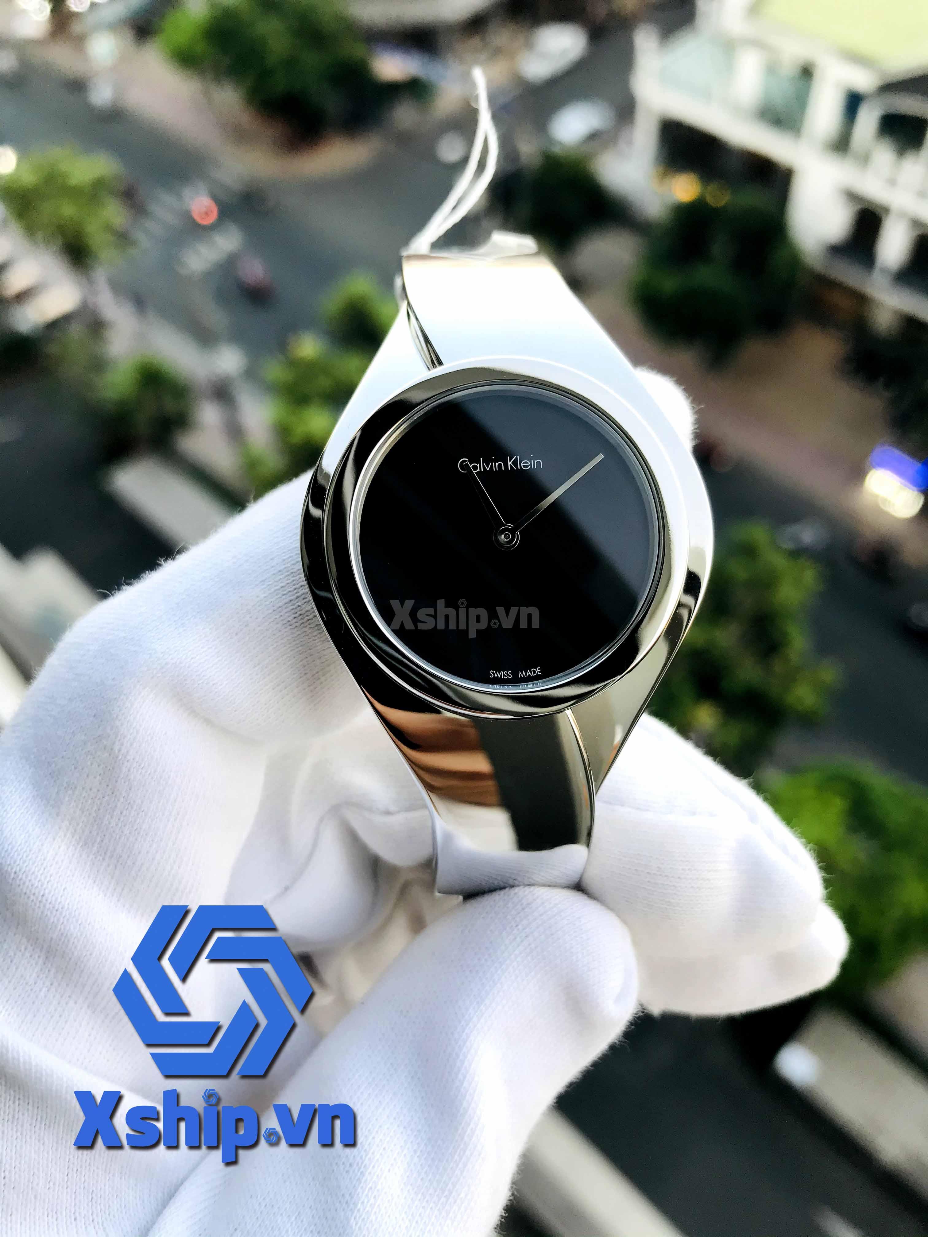 Calvin Klein Senses Black Dial Ladies K5N2M121