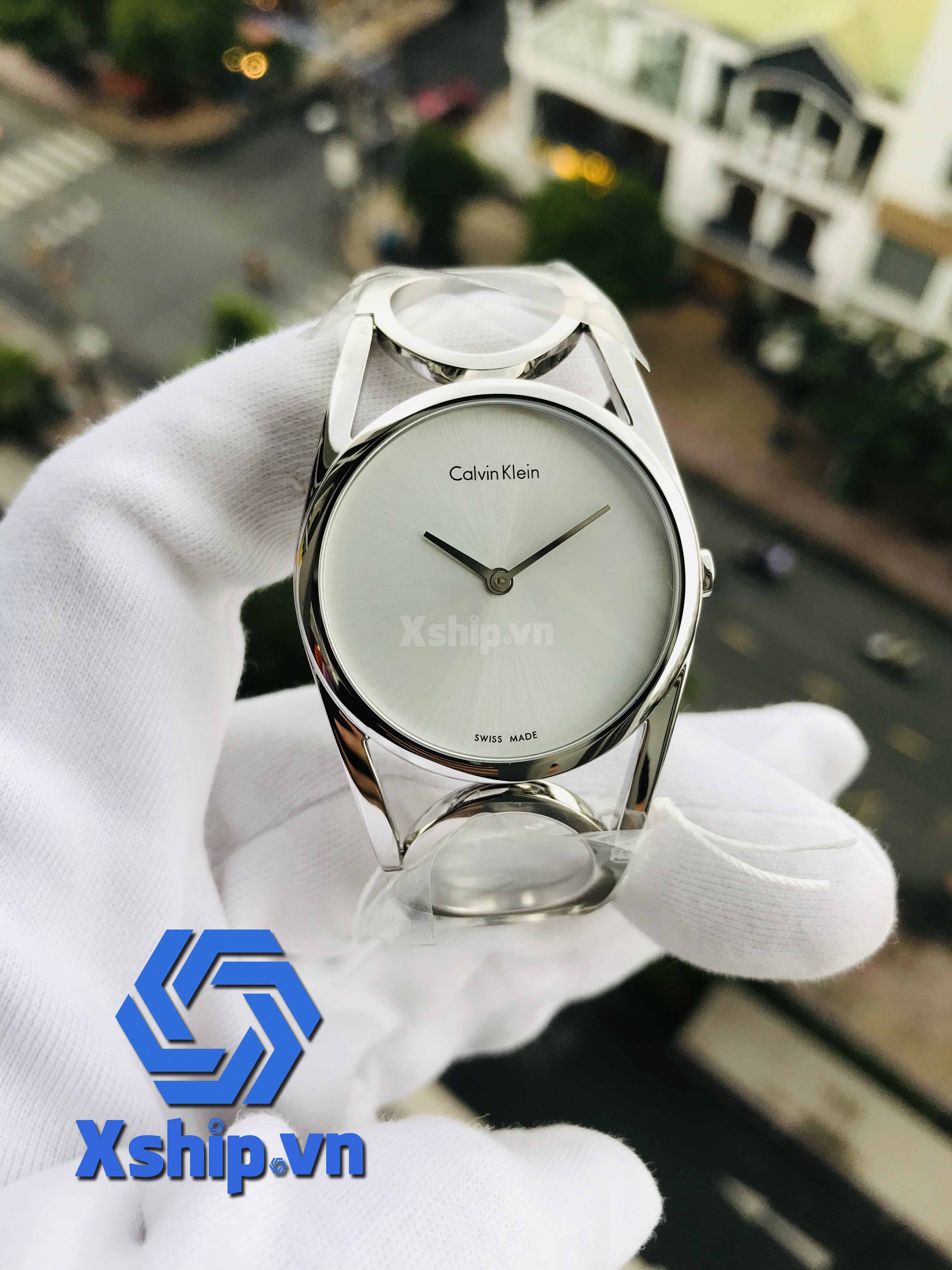 Calvin Klein Round Silver Dial Stainless Steel Ladies K5U2M146