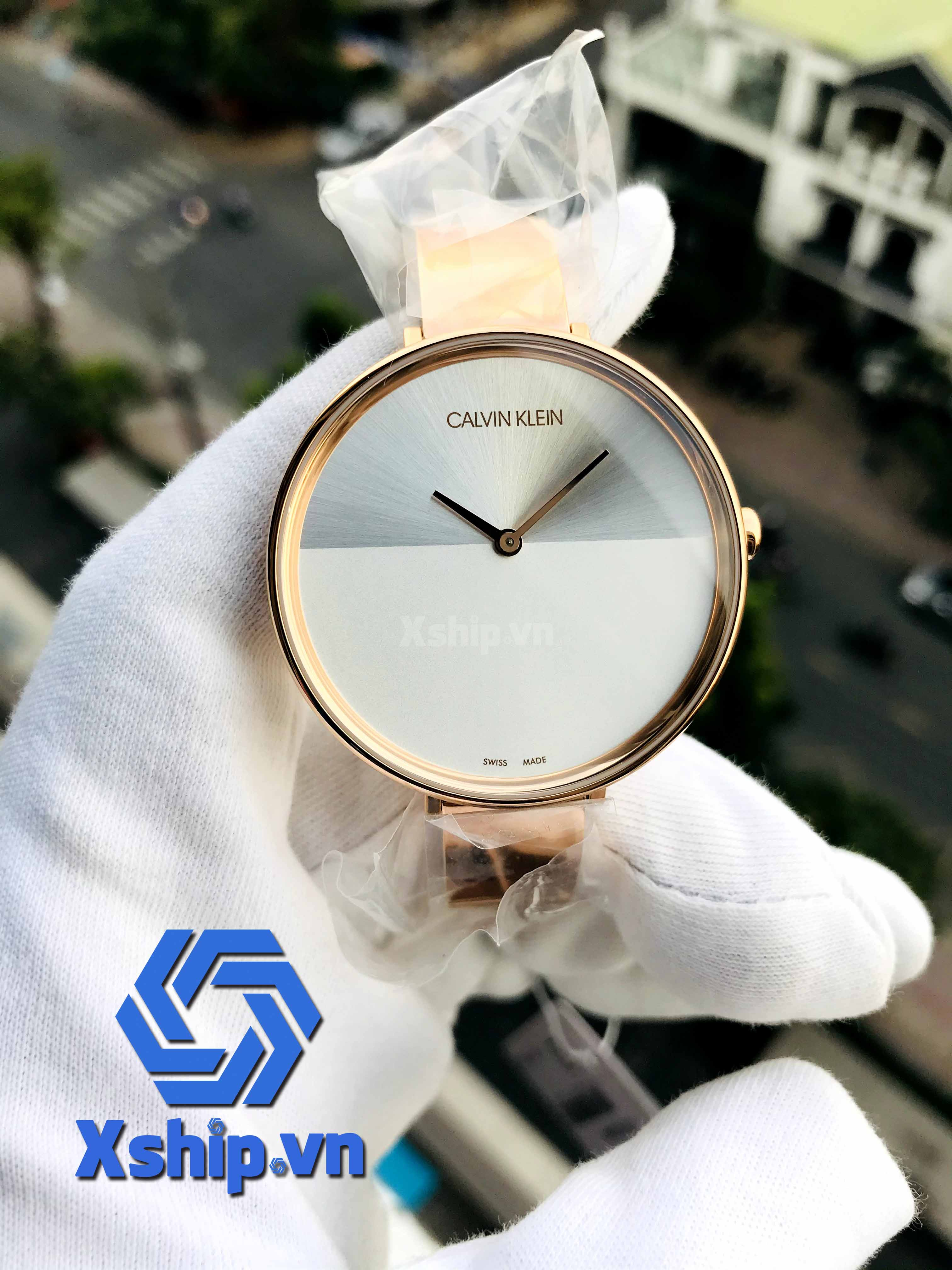 Calvin Klein Rise Quartz Silver and White Ladies Watch K7A23646
