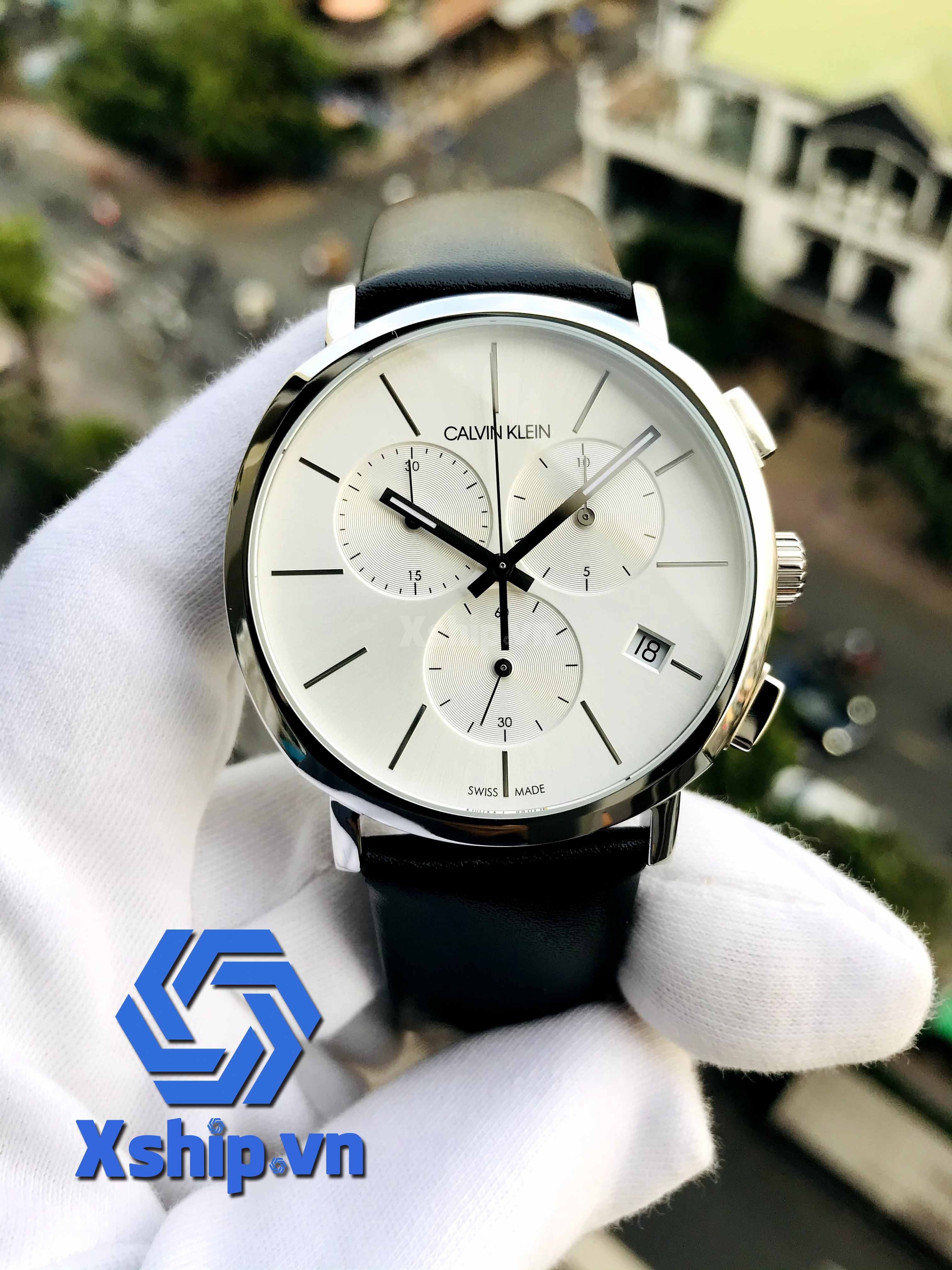 Calvin Klein Posh Chronograph Quartz Silver Dial Men Watch K8Q371C6