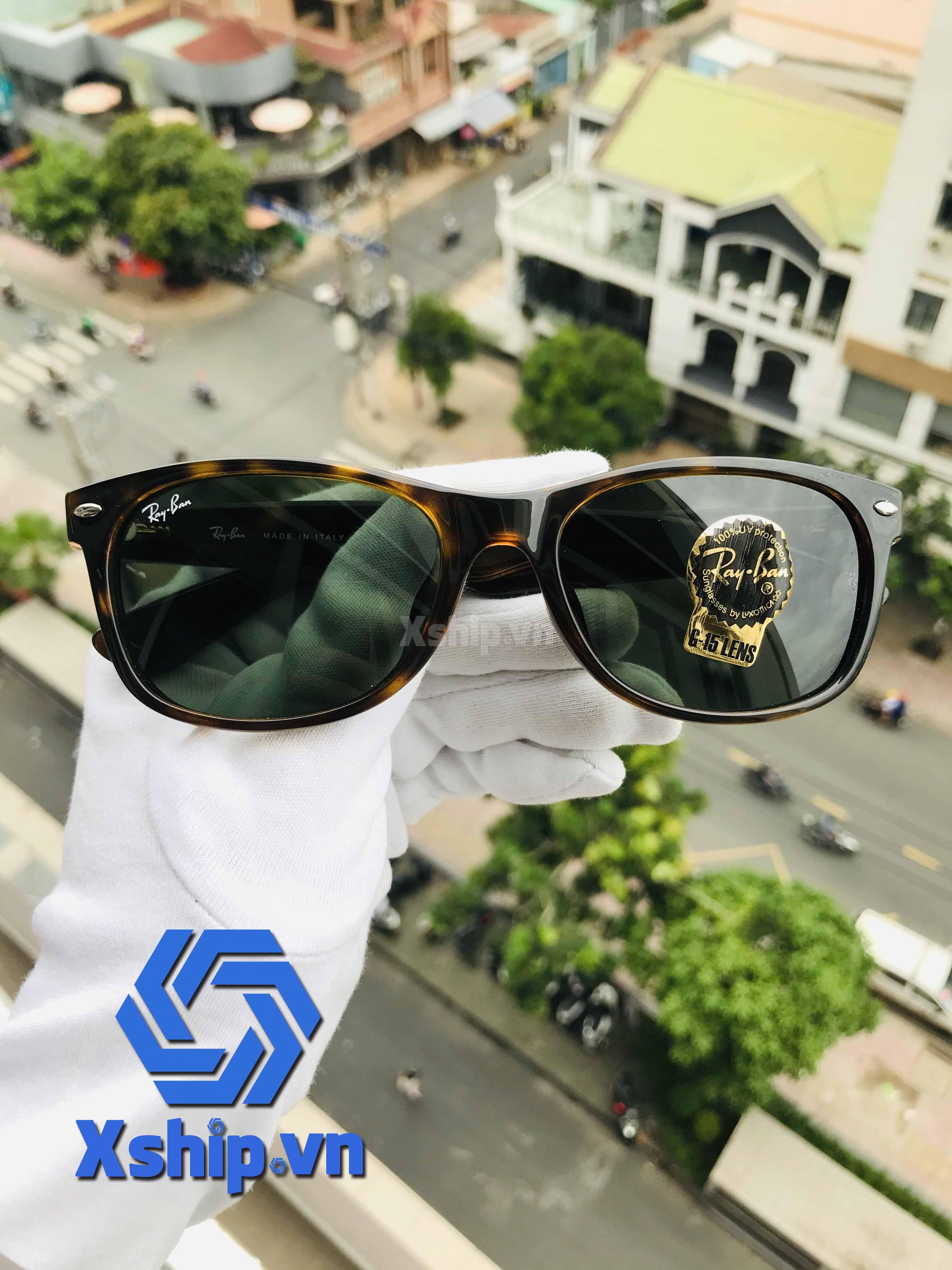 Ray Ban New Wayfarer Sunglasses RB2132F 902L 55