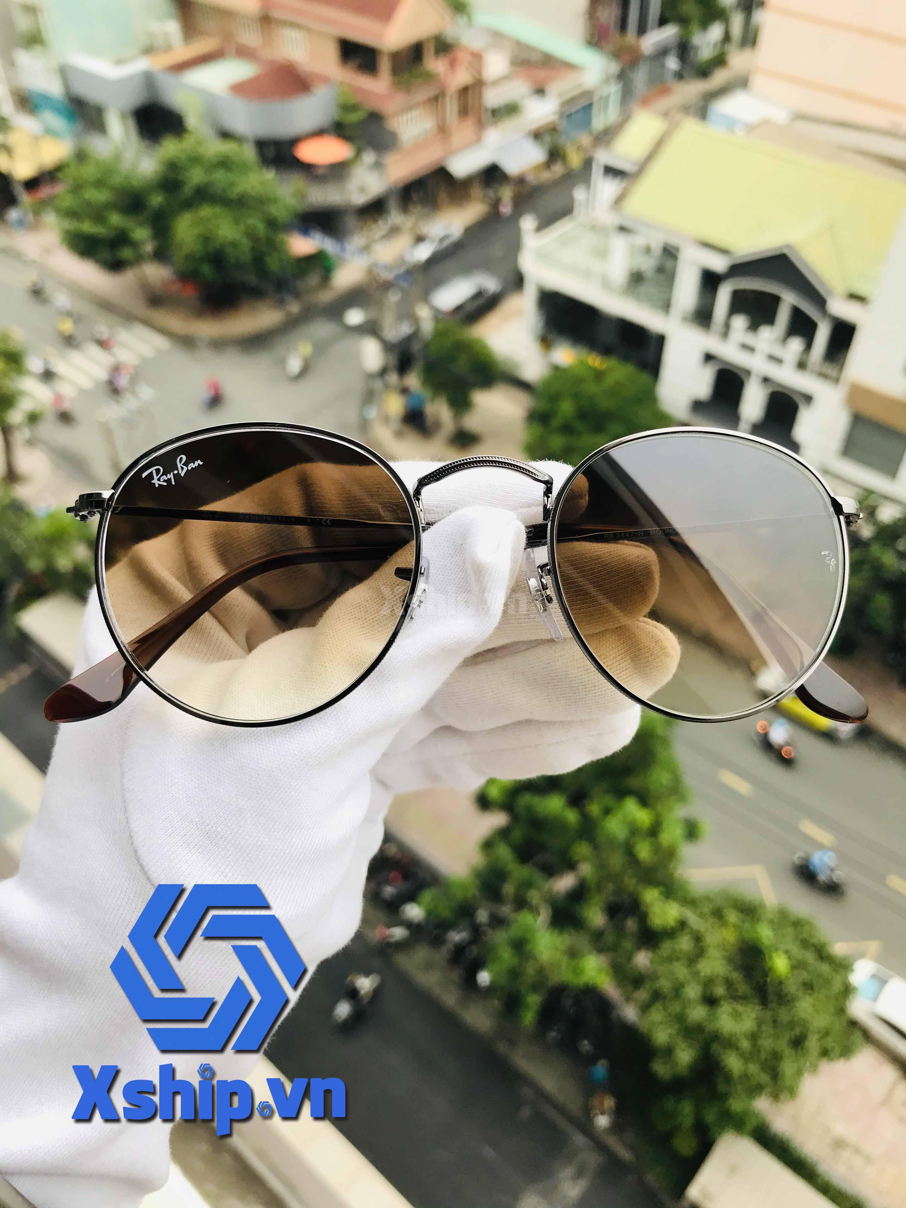 Ray Ban Round Flash Lenses Sunglasses RB3447N 004/51 50