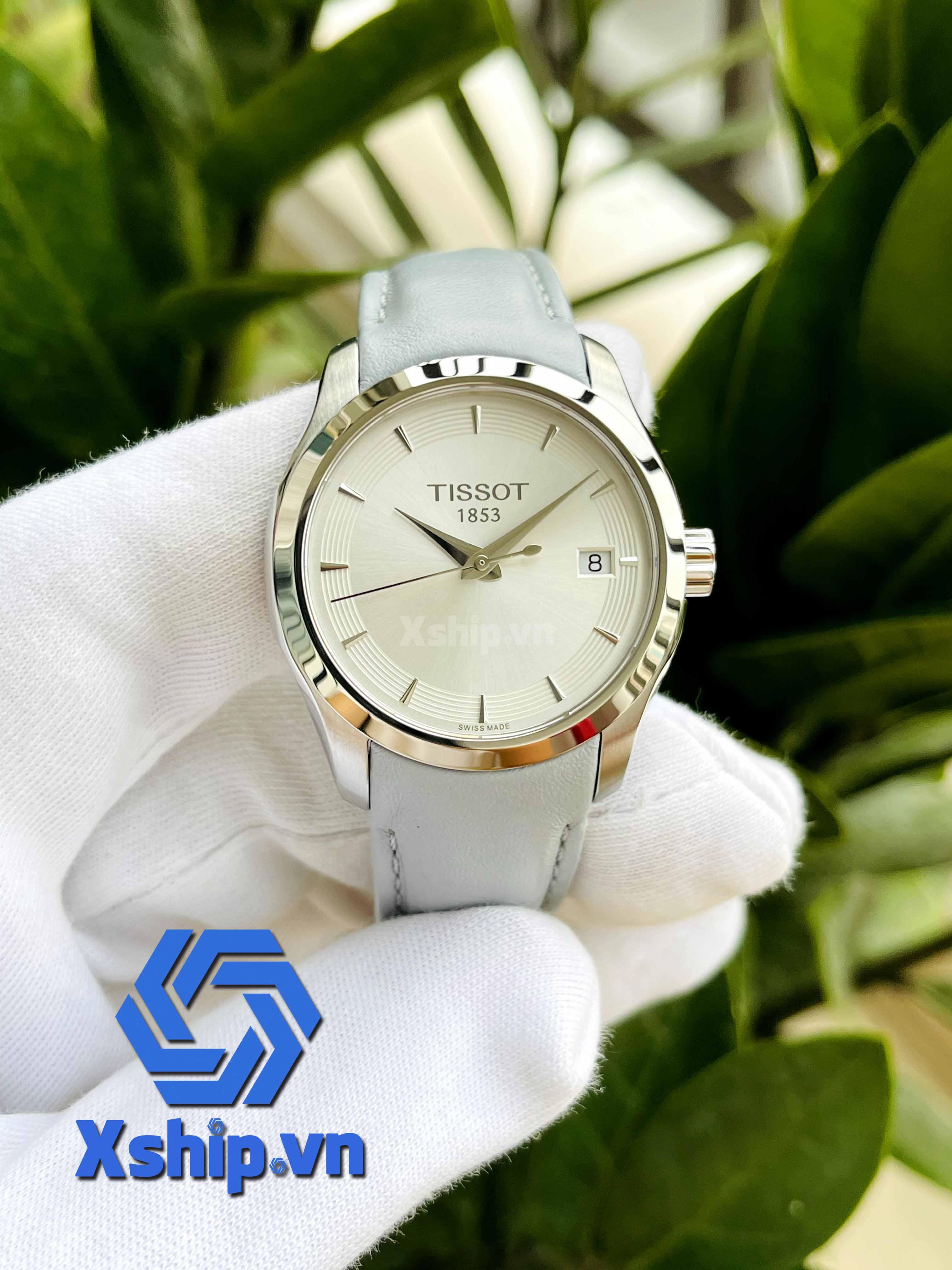 Tissot T-Classic Couturier Quartz Silver Dial Ladies Watch T035.210.16.031.02