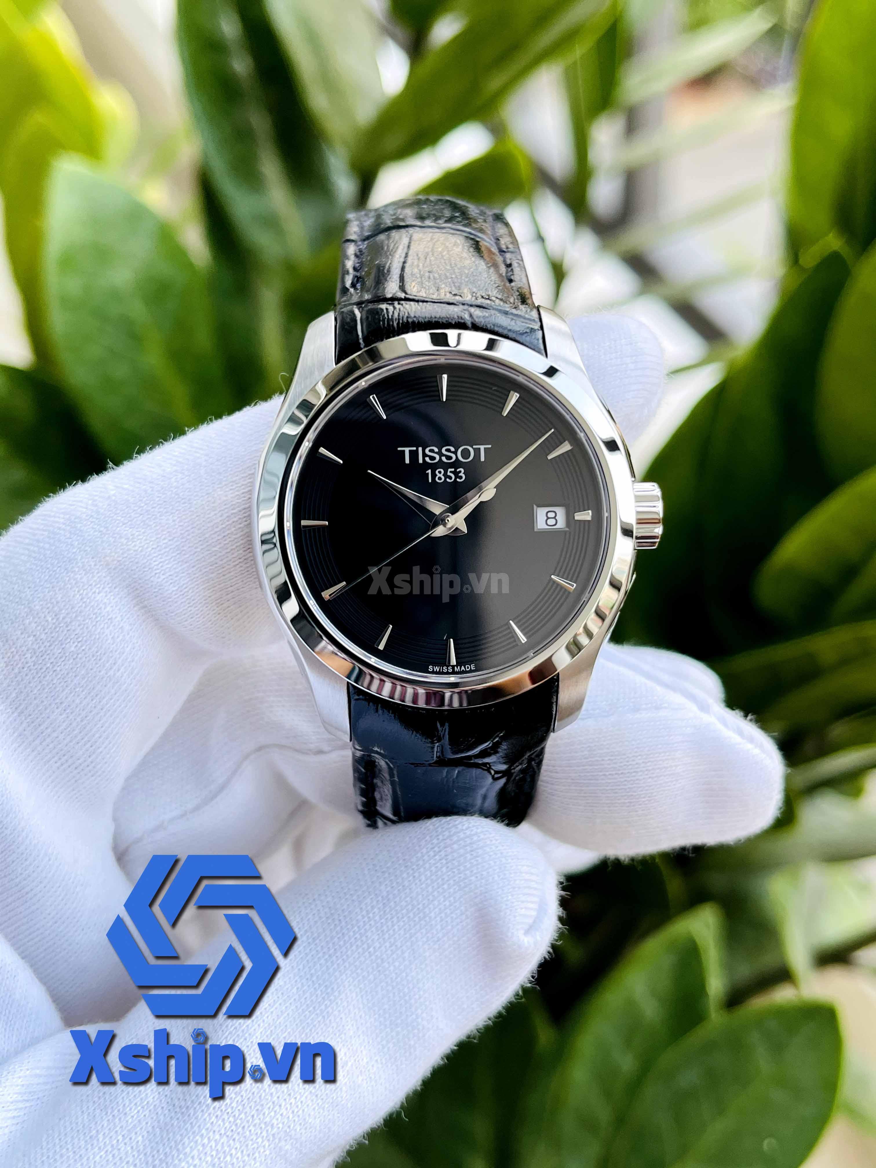 Tissot T-Classic Couturier Quartz Black Dial Ladies Watch T035.210.16.051.01