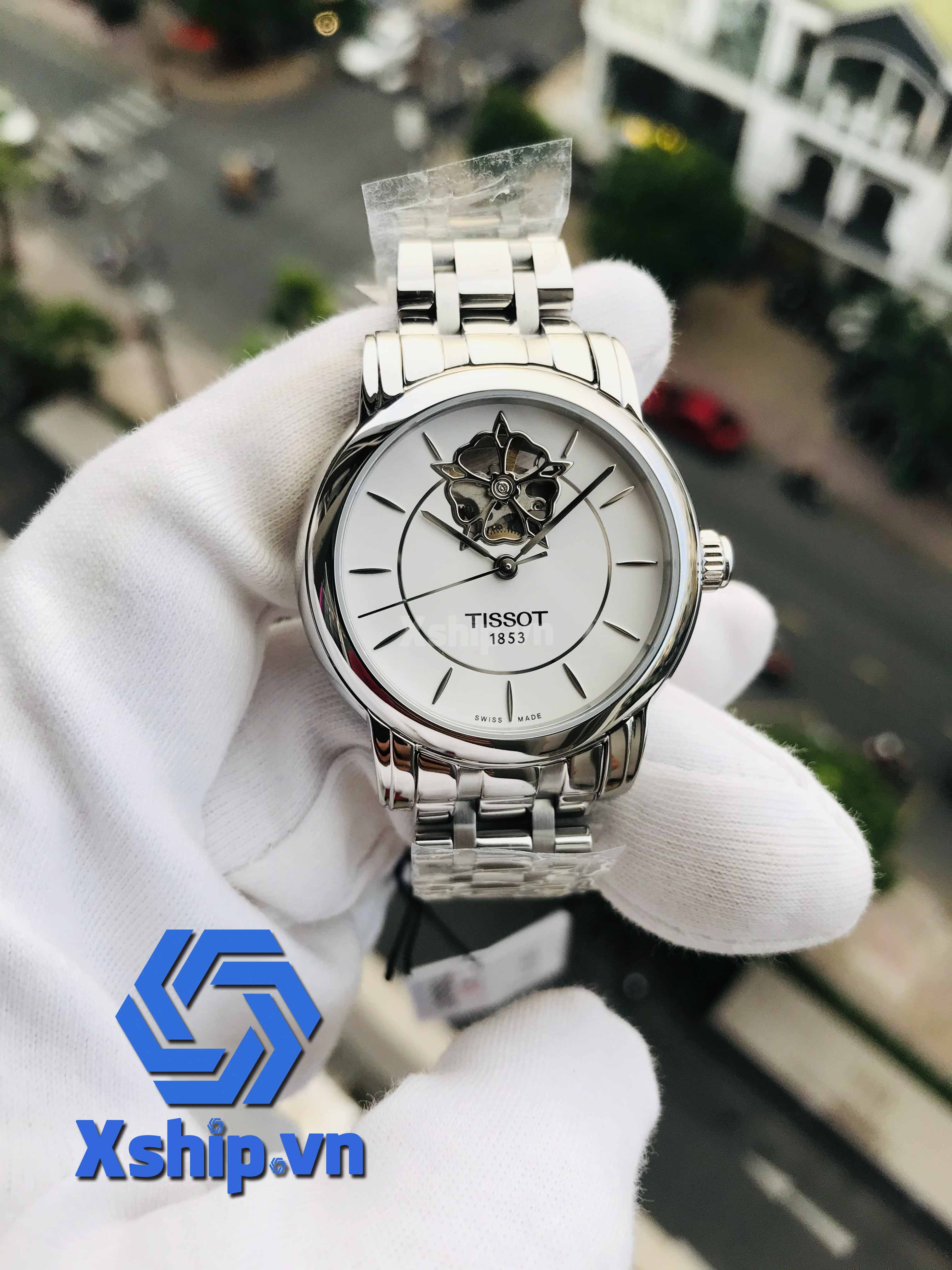 Tissot Lady Heart Automatic White Dial Stainless Steel Ladies T050.207.11.011.04 (T0502071101104)