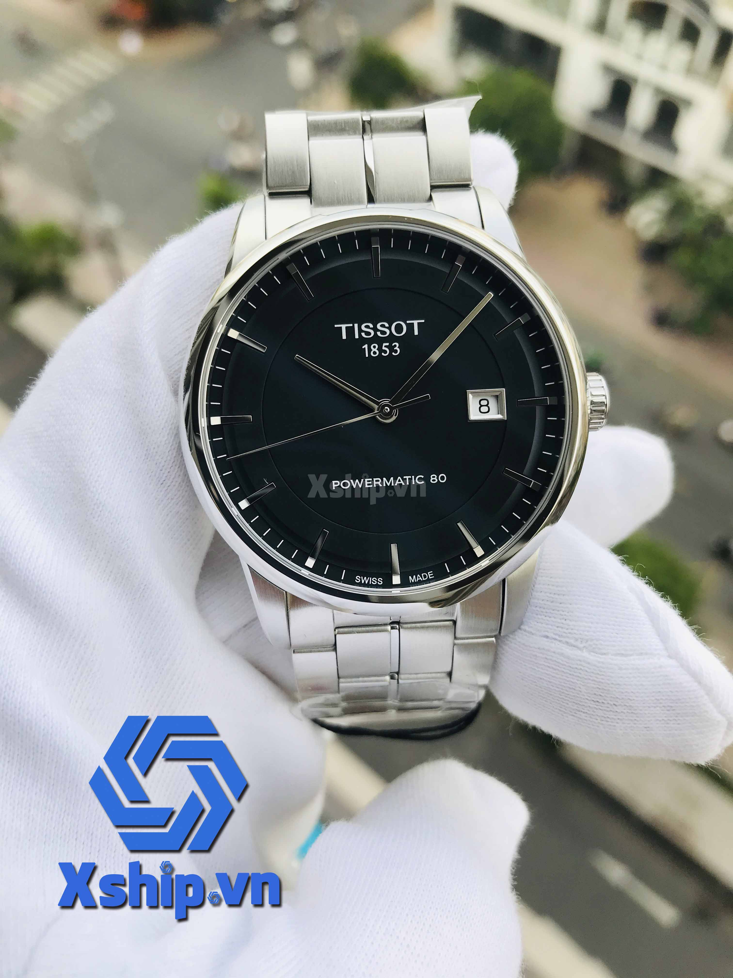 Tissot T-Classic Powermatic 80 Automatic Black Dial Stainless Steel Mens T086.407.11.051.00 (T0864071105100)