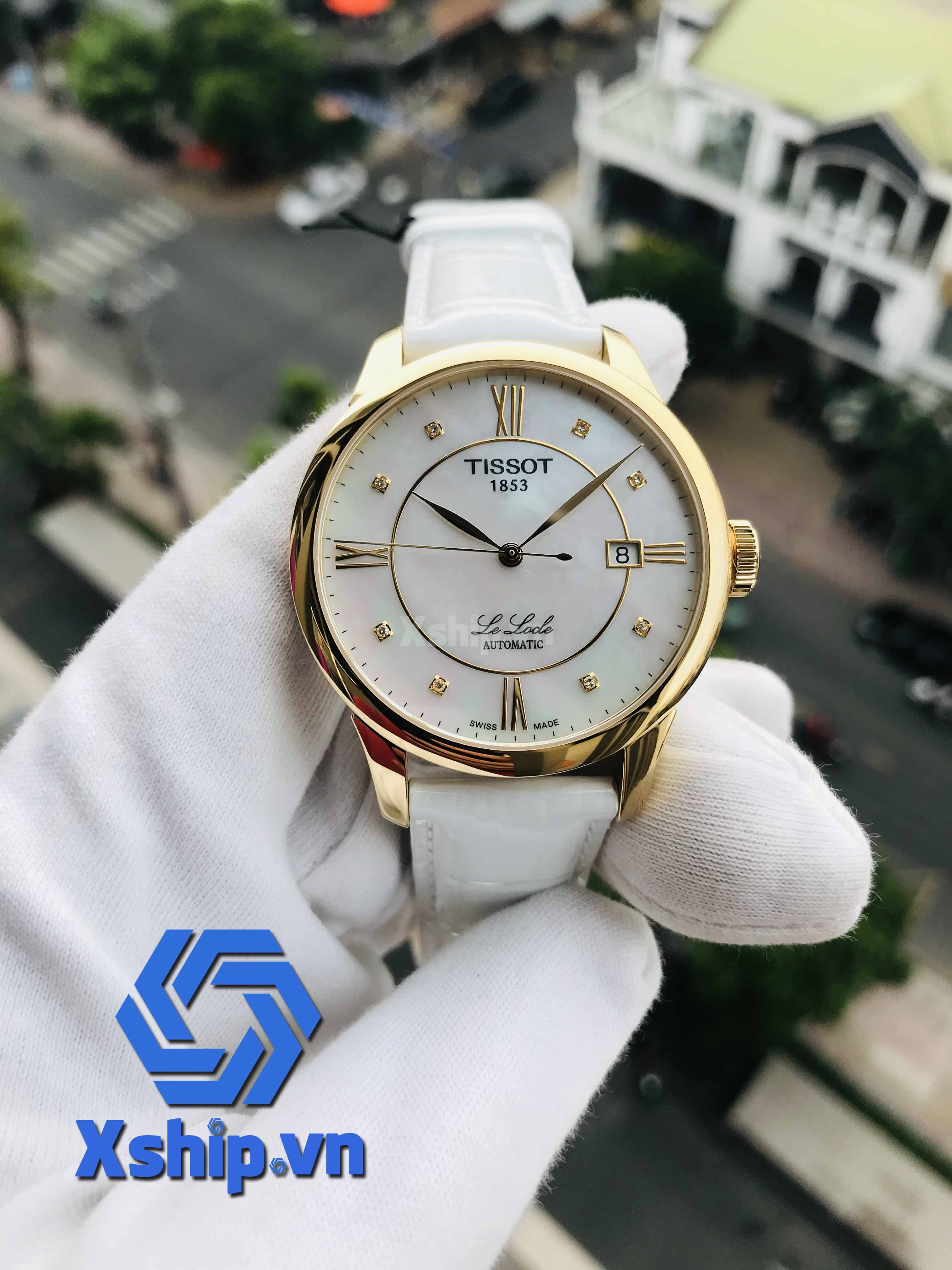 Tissot Le Locle Automatic Mother of Pearl Diamond Dial Ladies T41.5.453.86 (T41545386)